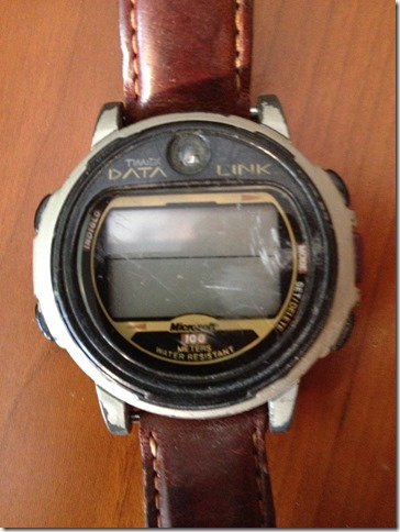 Timex DataLink watch