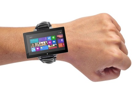 TechCrunch mockup of Microsoft Watch